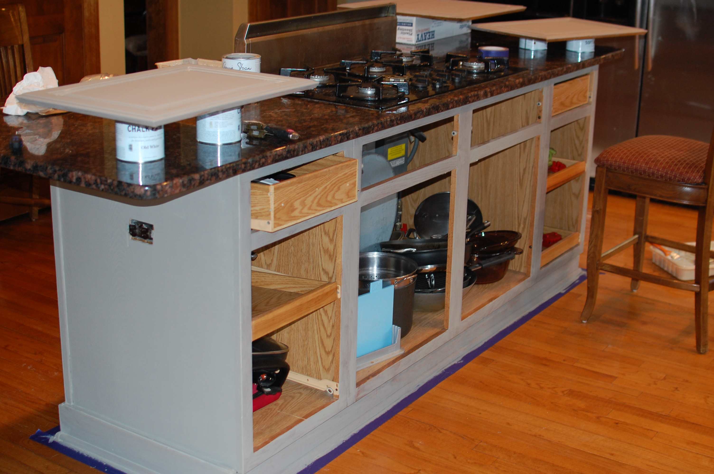 Give Your Kitchen Island A Facelift And Some y Legs Giddy