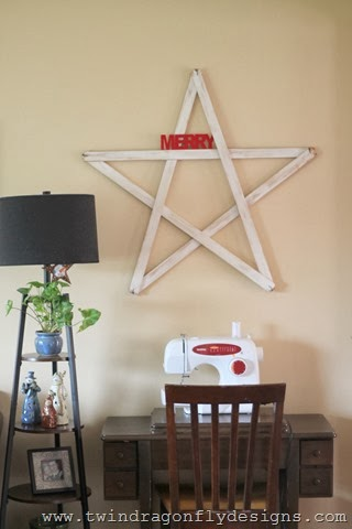 DIY Christmas Yardstick Star