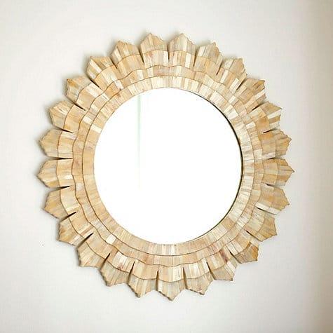 gold sunburst mirror. Zinc Door $335. Sunburst Gold Mirror
