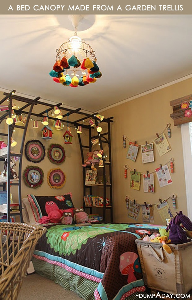 Upcycled Home Decor Ideas Part - 45: Amazing-Easy-DIY-Home-Decor-Ideas-bed-canopy