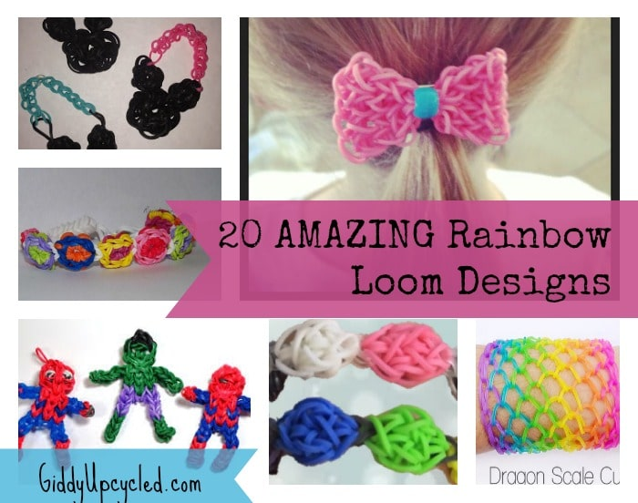 giddyupcycled-rainbowloom-short jpg jpgEasy Rainbow Loom Designs