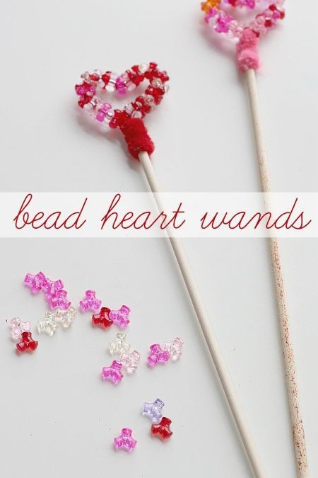 Bead Heart Wands – Great Valentines Craft For Girls