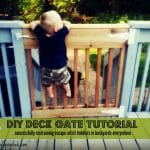 DIY Deck Gate:  Successfully Retaining Escape Artist Toddlers Everywhere