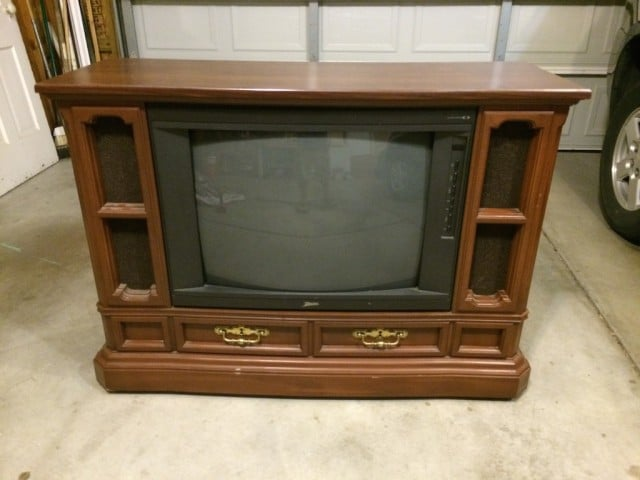 She Turned That Old Built In Tube TV, Into What???