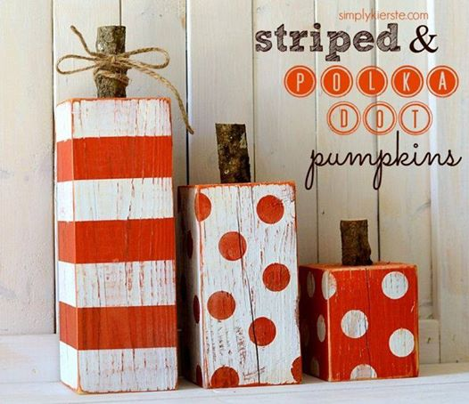 Painted Wooden Pumpkins For Fall