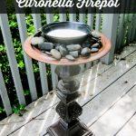 DIY Standing Citronella Firepot