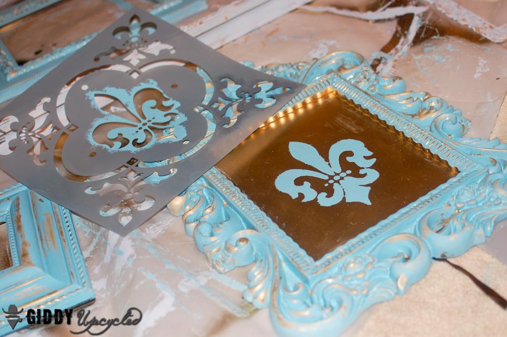 Distressed Vintage Frames Giddyupcycled 12
