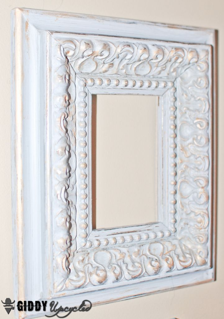 distressed vintage frames giddyupcycled 18 - White Vintage Picture Frames