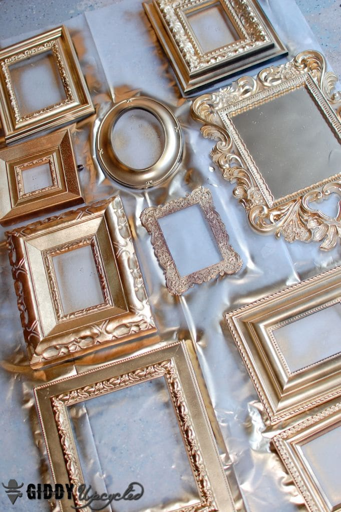 step 2 paint the frames with chalk paint. Black Bedroom Furniture Sets. Home Design Ideas