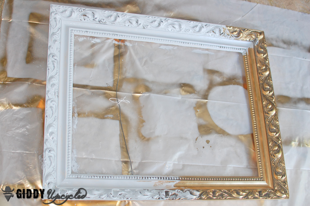 How to create a distressed french vintage look with chalky for How to make vintage frames