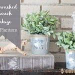 Whitewashed French Vintage IKEA Planters