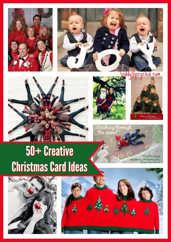 Creative family christmas cards ideas