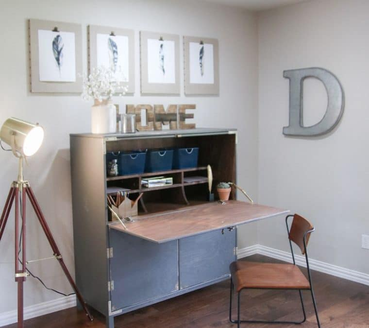 DIY Flip Top Secretary Desk as seen on HGTV Open Concept