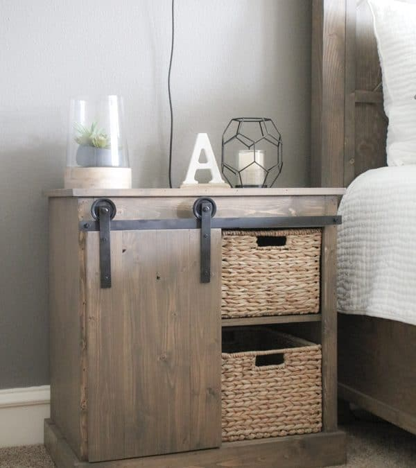 Sliding Barn Door Nightstand – DIY