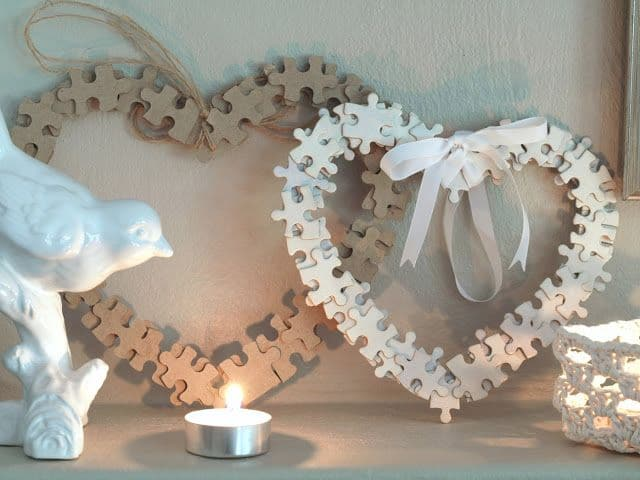 Puzzle Piece Hearts – Great for Valentines Day!
