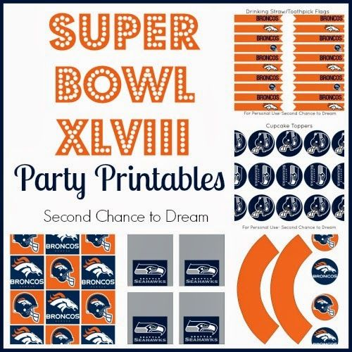 Super Bowl Party Printables