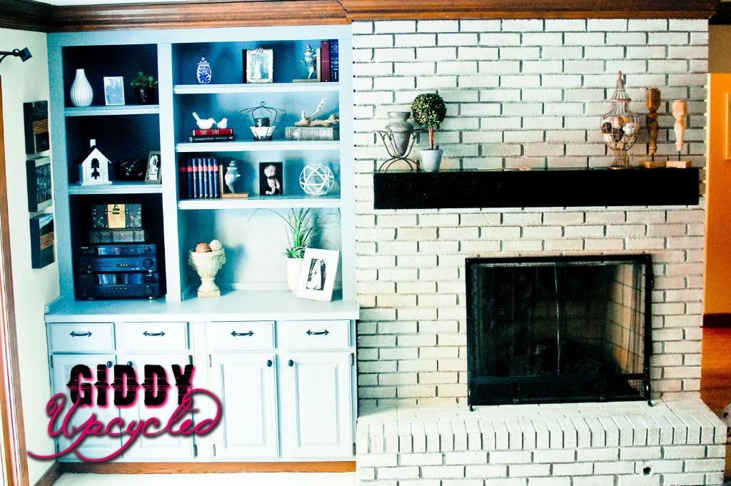 Family Room Bookcase & Fireplace Makeover Reveal!