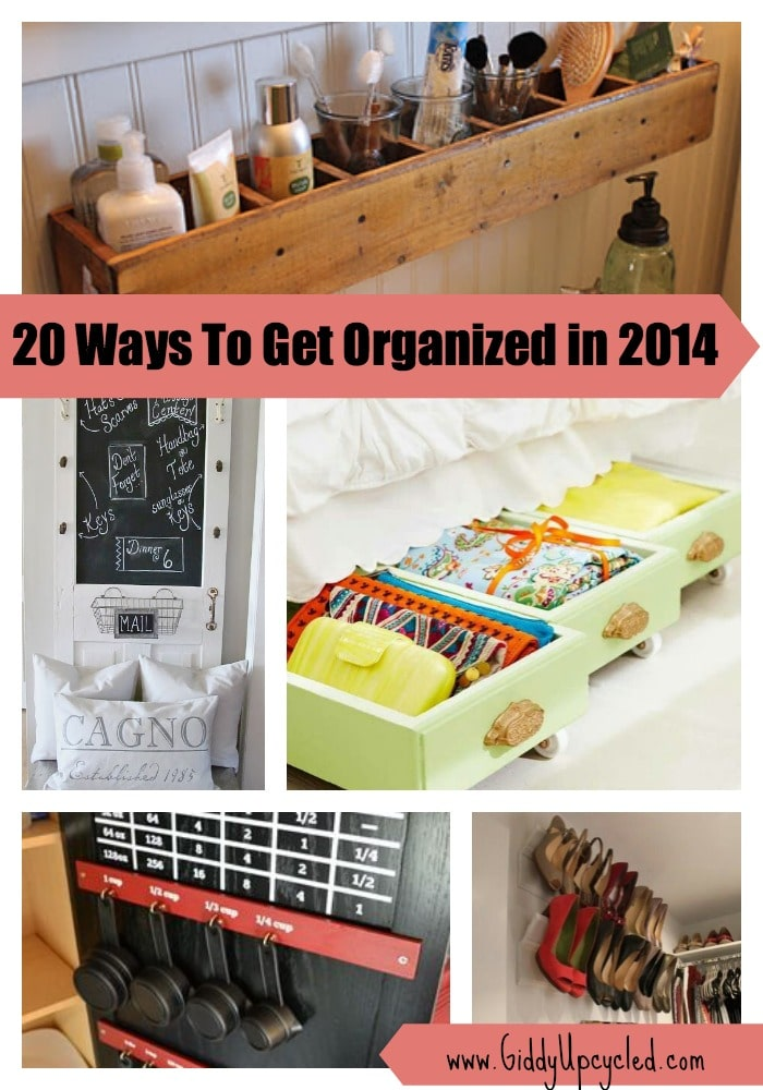 Get Organized This Year – 20 Genius Upcycled Storage Ideas