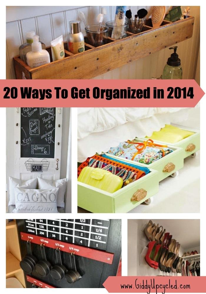 get organized this year - 20 genius upcycled storage ideas - giddy 20 Storage Ideas