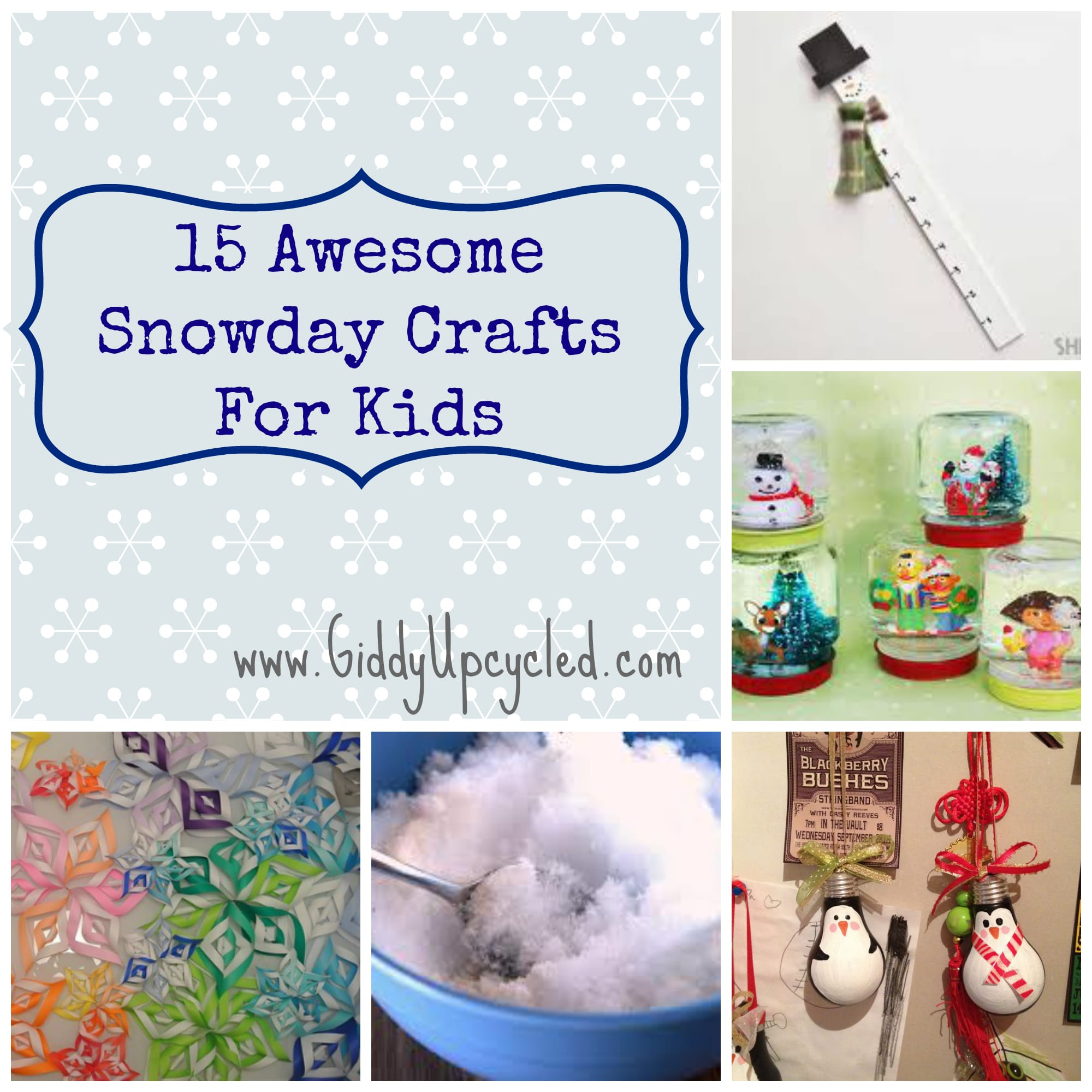 15 Awesome Snow Day Crafts For Kids