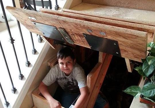Genius Storage Solutions:   Secret Storage Under The Stairs