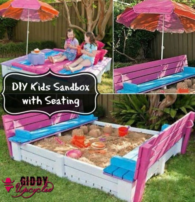 GiddyUpcycled-DIY sandbox