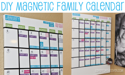 DIY Magnetic Family Calendar