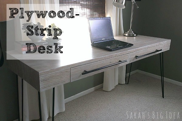Plywood Strip Desk