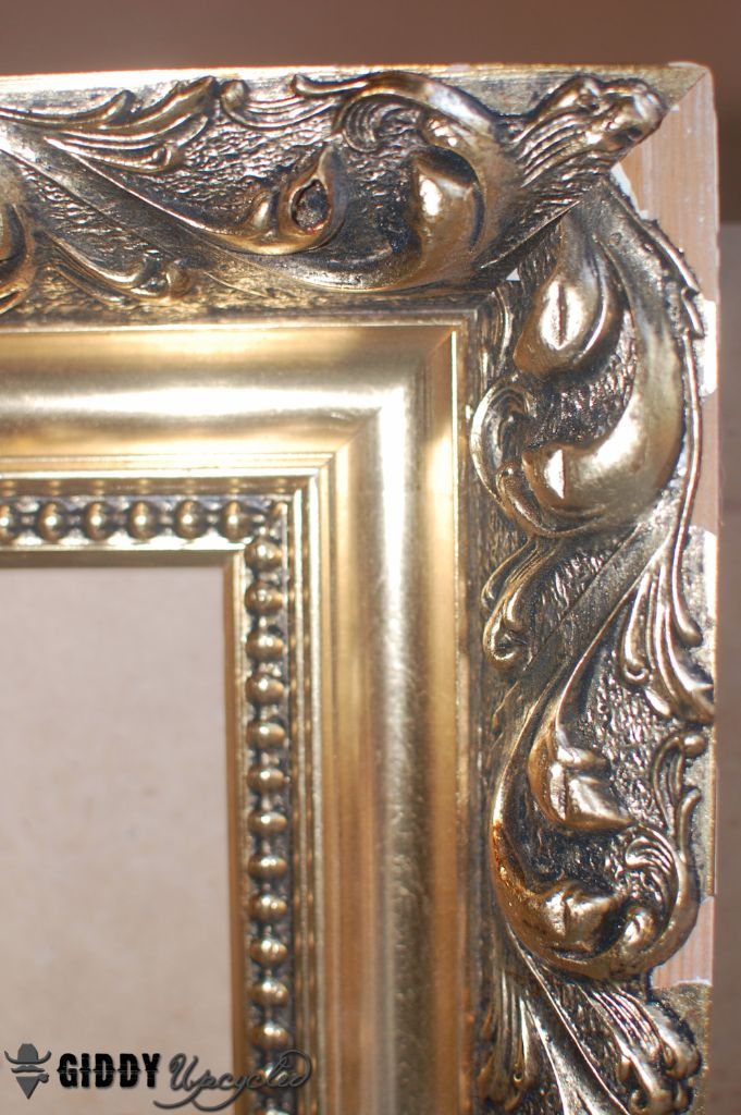 Distressed French Vintage Look, How To Paint A Gold Framed Mirror