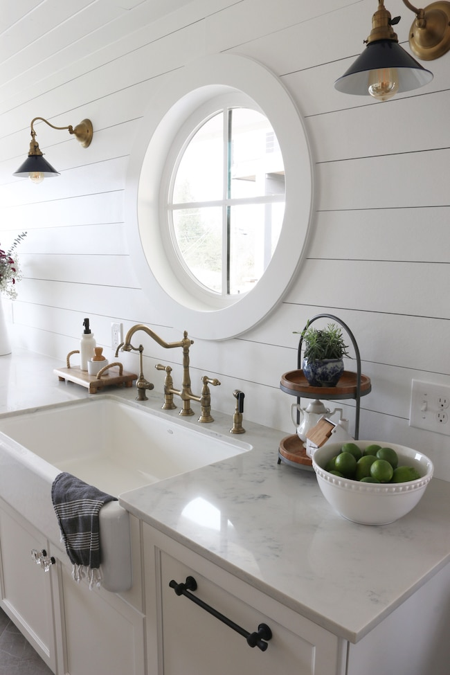 Painted Shiplap Kitchen