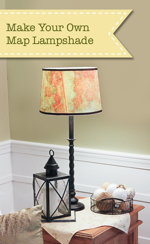 Vintage Map Lampshade
