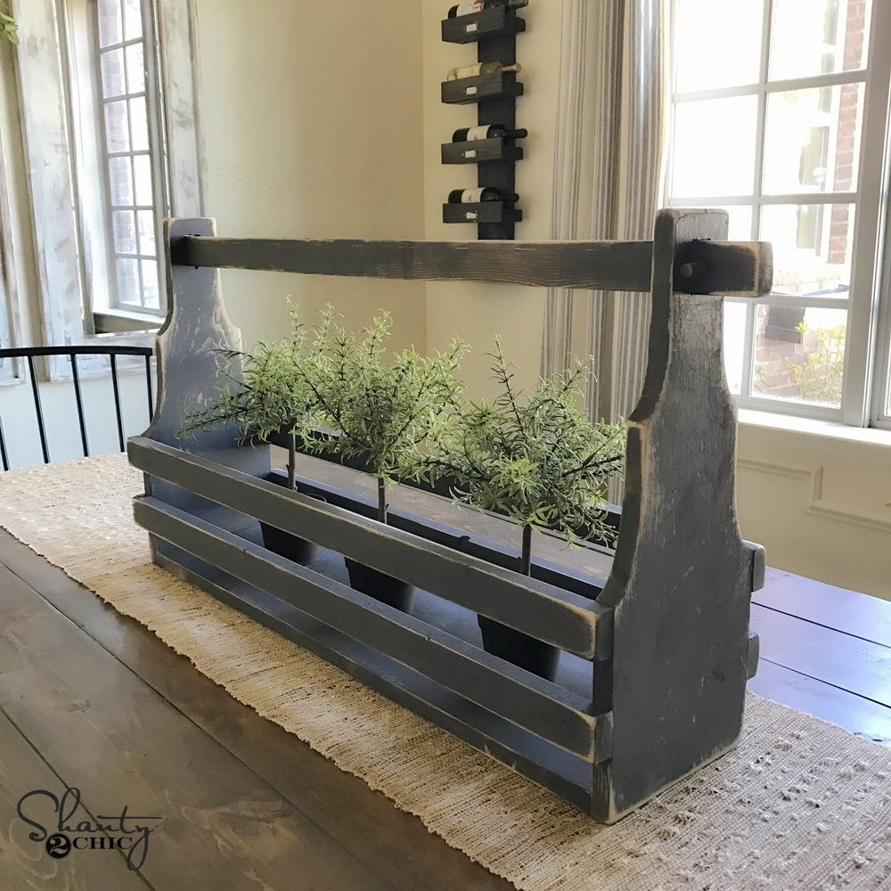 DIY Rustic Crate Centerpiece